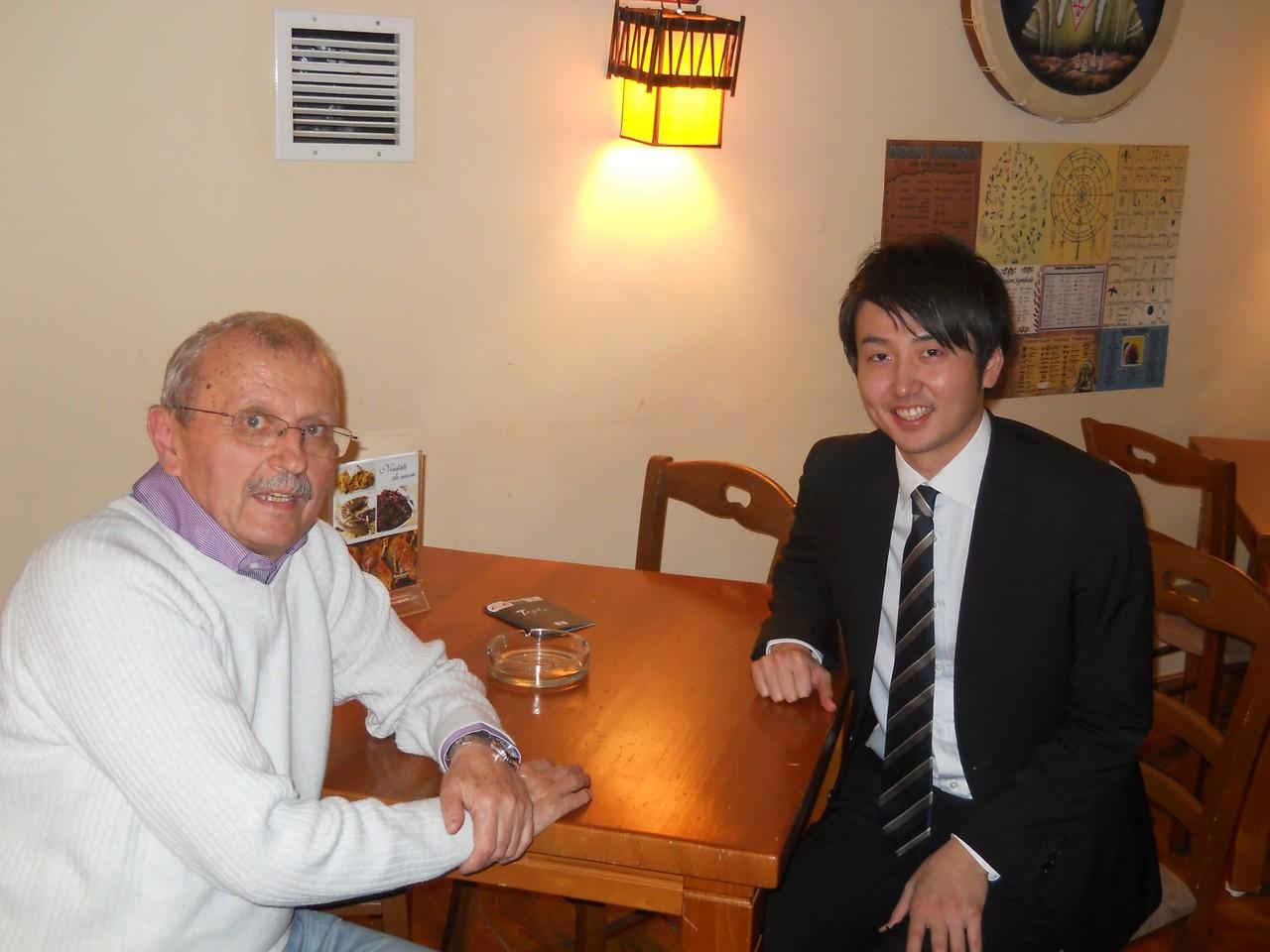 Találkozás Nagyváradon Nobumitsu Takamatsu a Bukaresti Japán Nagykövetség kúlturális tanácsossával.