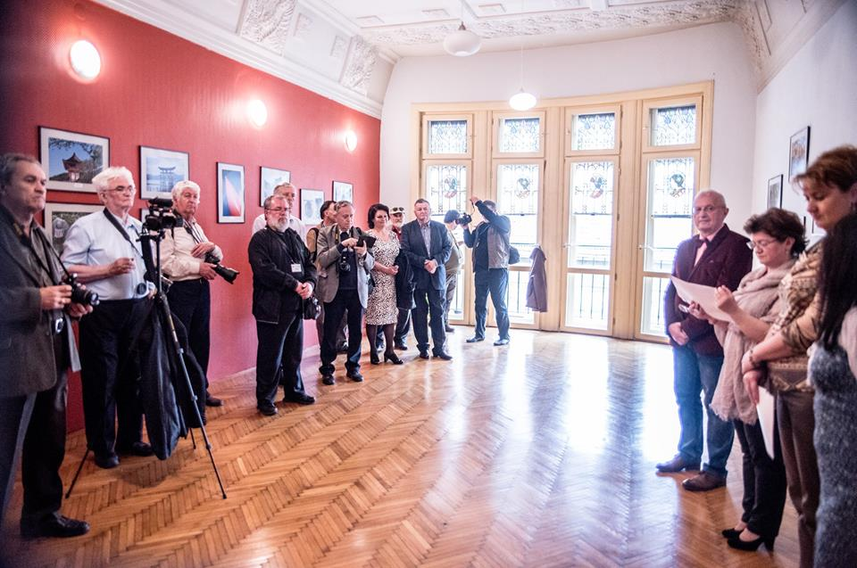 The opening of Ioan Roxin's, Montbéliard  (F) personal exhibit