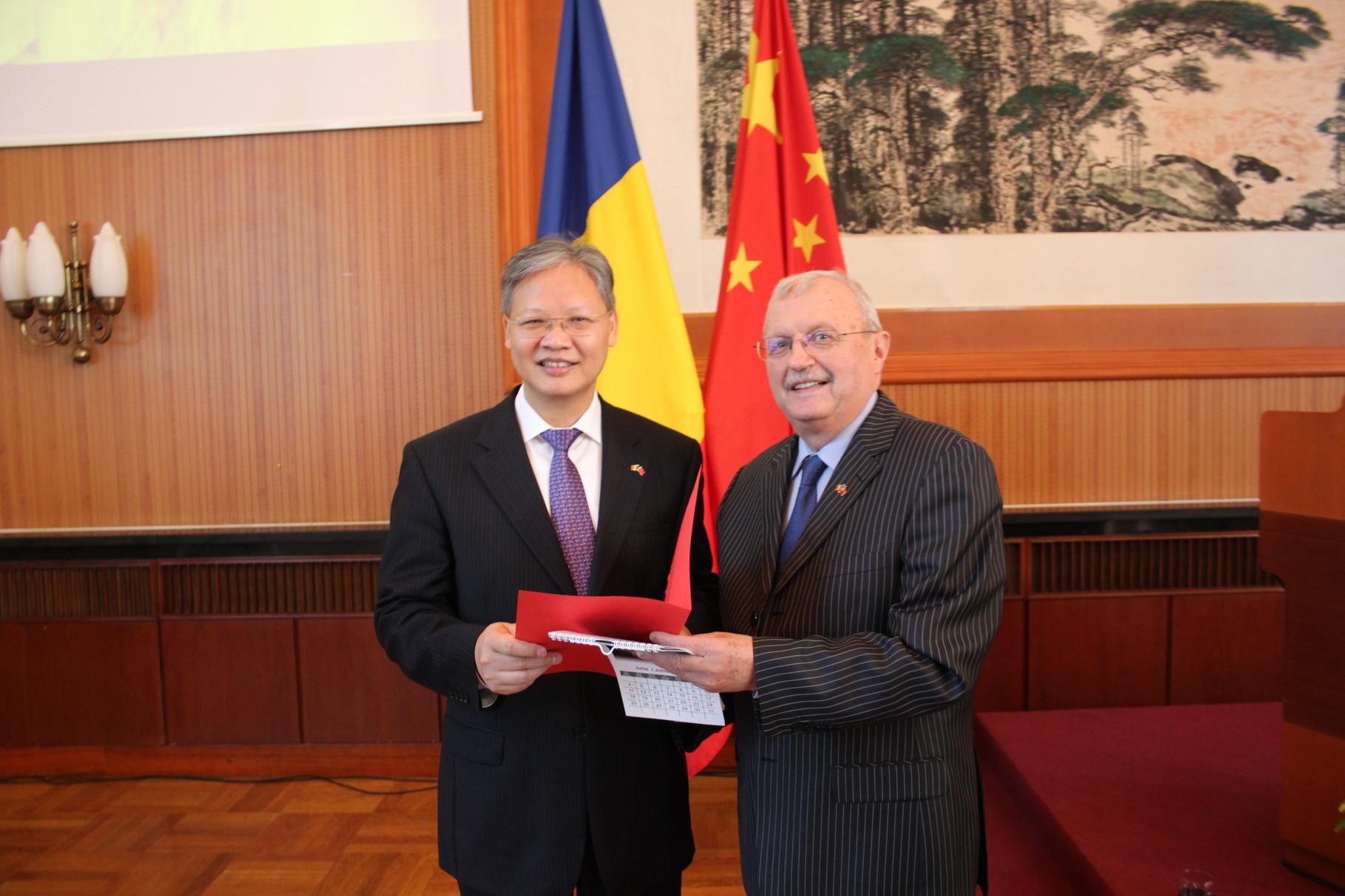 Tóth István és Kína Románia-i Nagykövete - Bukarest