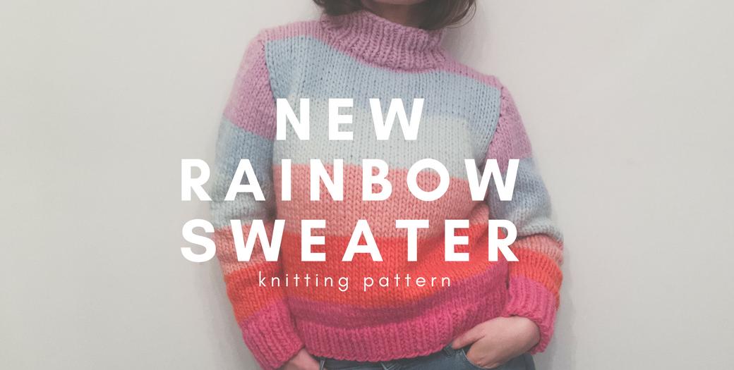 Ein neuer Regenbogen Pullover felicity DIY Blog