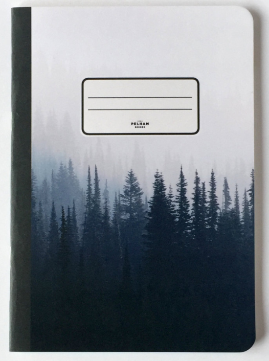 5) Pine Tree Notebook, via Etsy