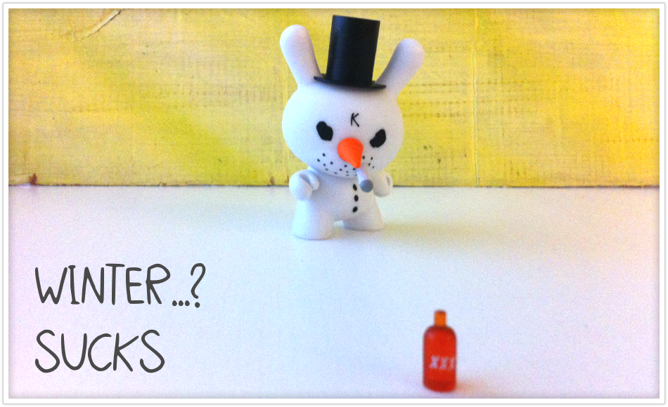 kidrobot. winter...? sucks