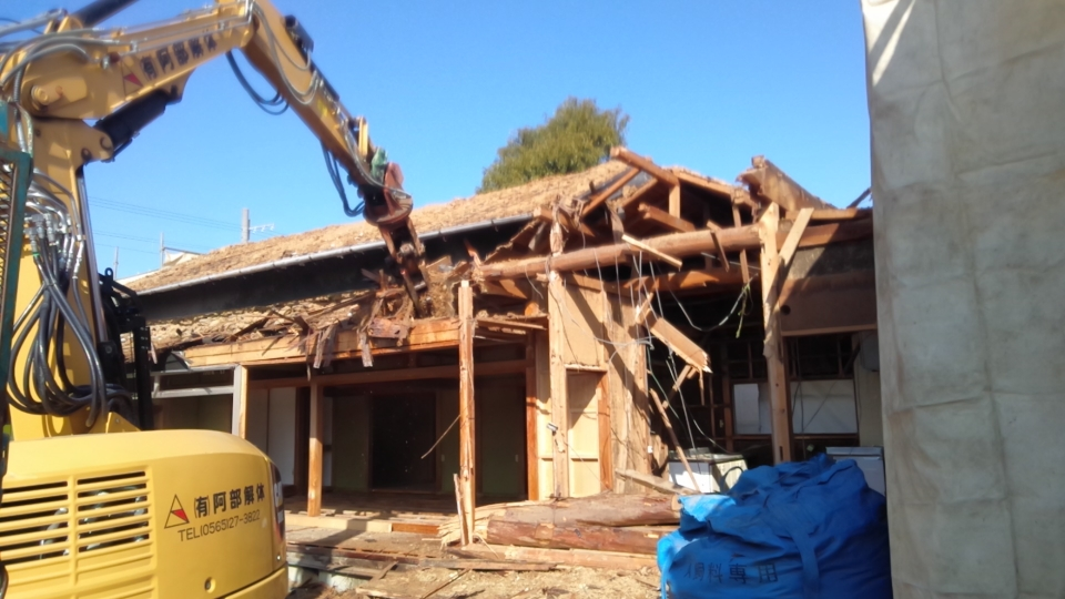 木造平屋住宅解体