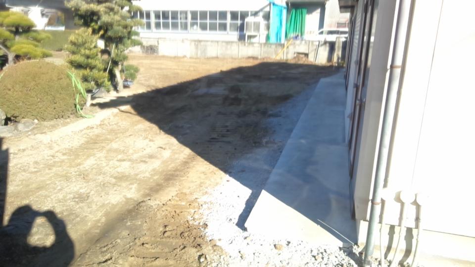 残し家屋、コンクリート土間カッター入れ