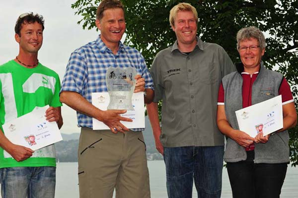 Kleeblattrouten haben den 3. Preis der Gesundheitstrophy Berner Oberland 2010 gewonnen
