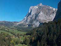 Blick auf Grindelwald von der Grossen Scheidegg