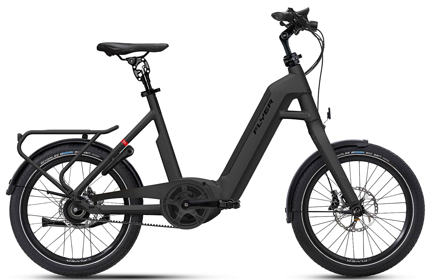 E-Bike FLYER Upstreet1 schwarz matt