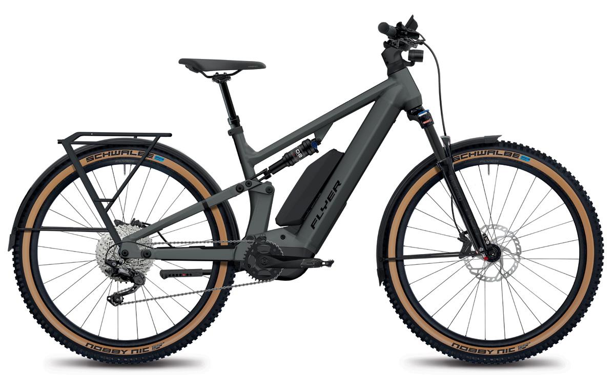 E-Mountainbike FLYER Goroc X 4.10 mit Range Extender black satin