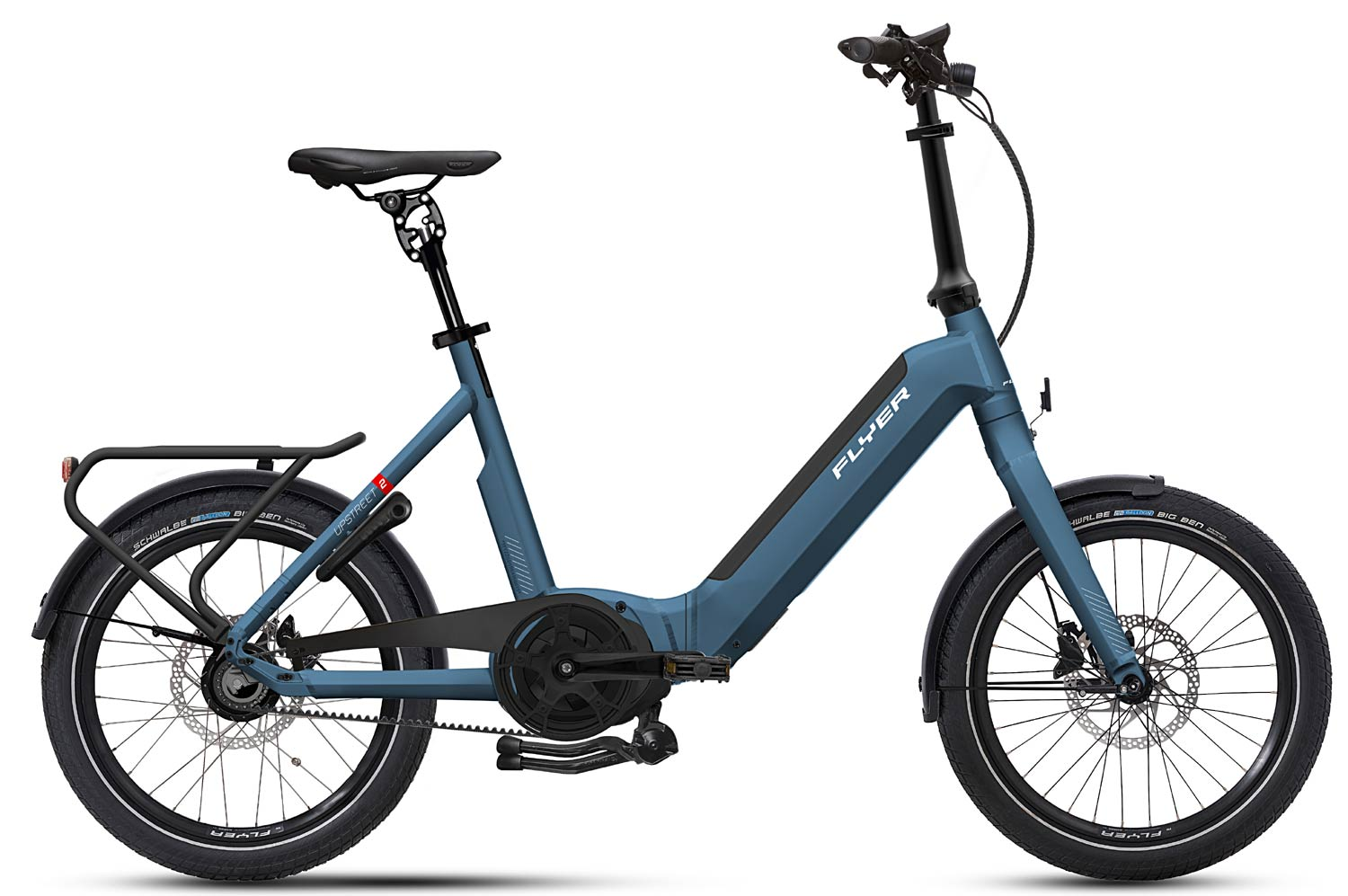 E-Bike FLYER Upstreet2 Faltrad jeansblau