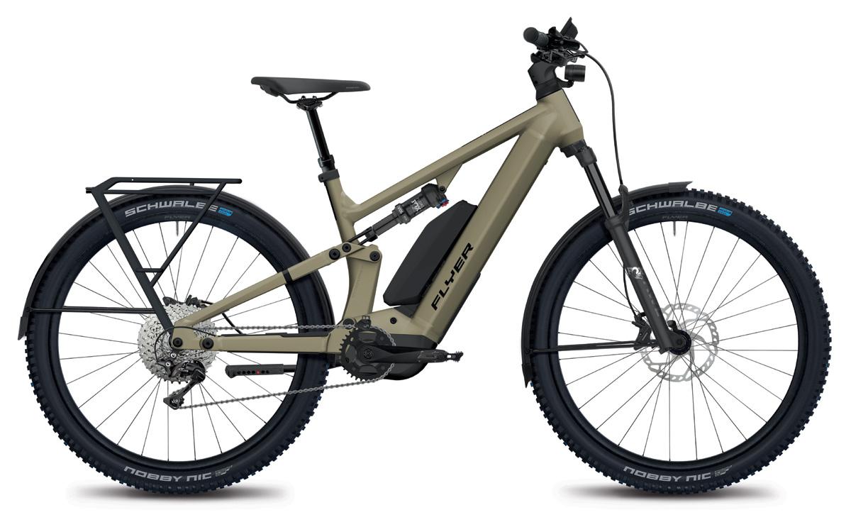 E-Mountainbike FLYER Goroc X 6.70 mit Range Extender sand