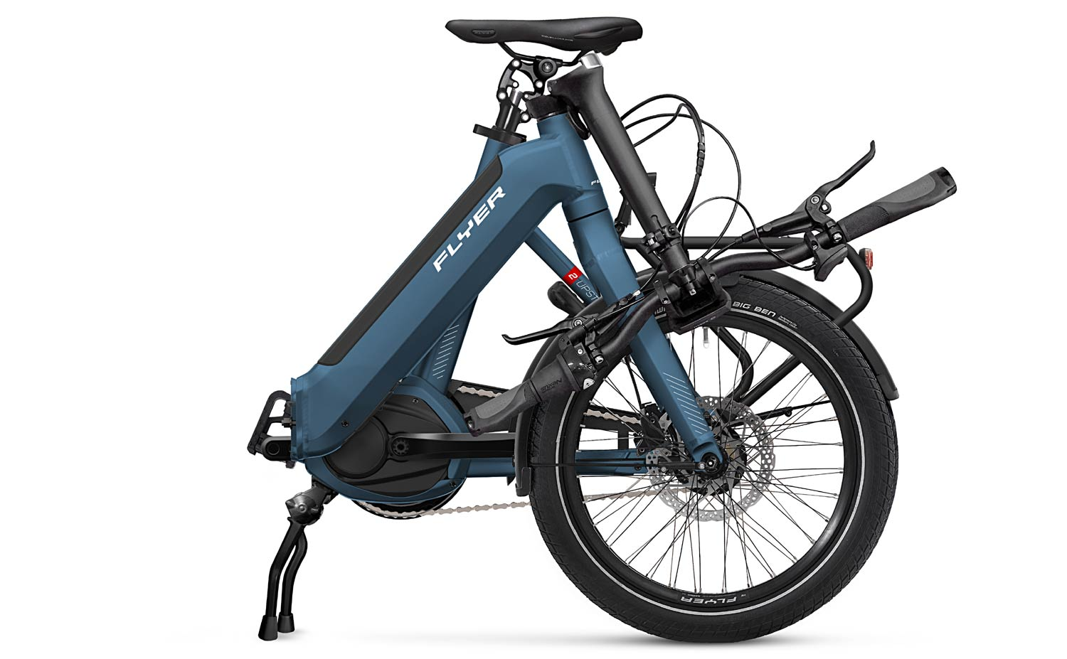E-Bike FLYER Upstreet2 Faltrad gefaltet