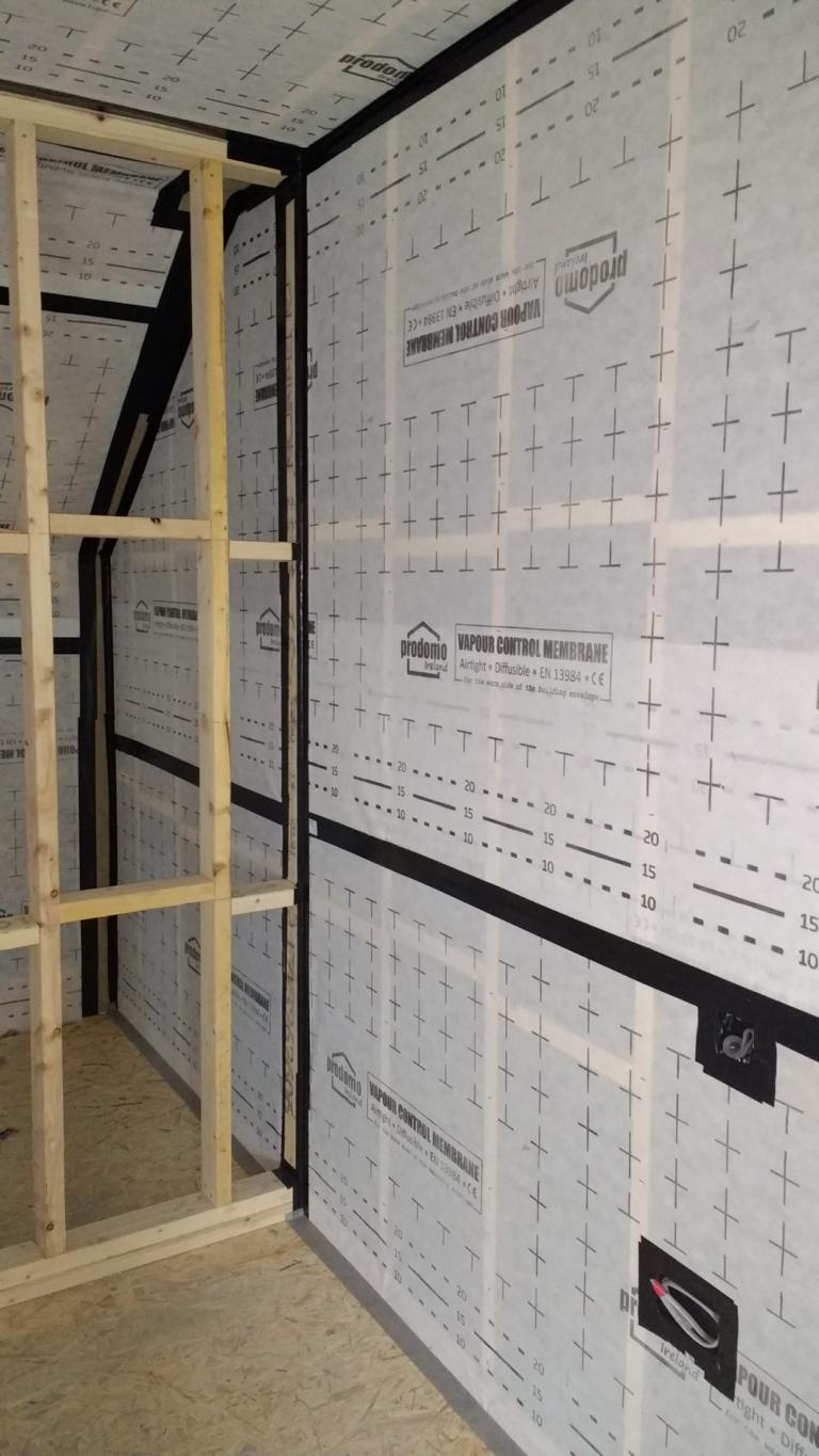Air Tight Membrane on a stud wall
