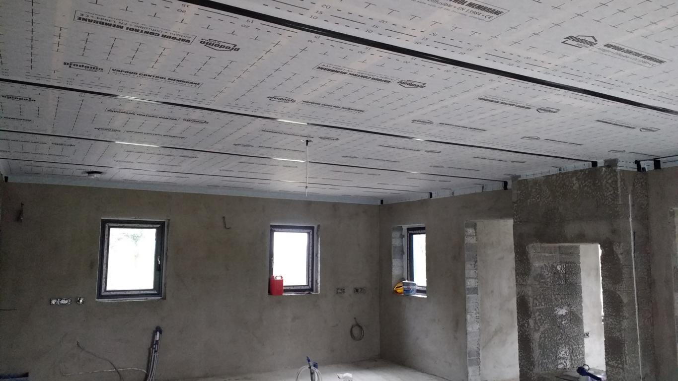 prodomo ECO air tight membrane - installed, taped and sealed