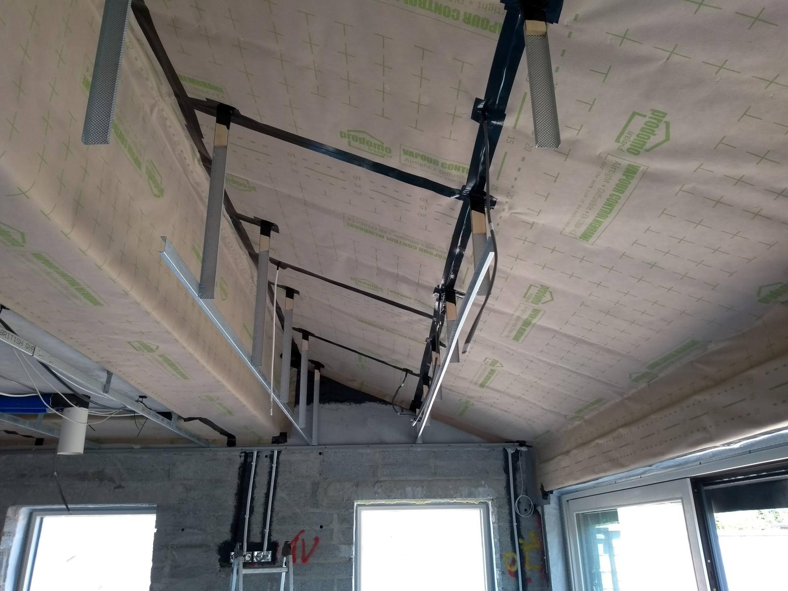 Air Tight Membrane for a slope roof area