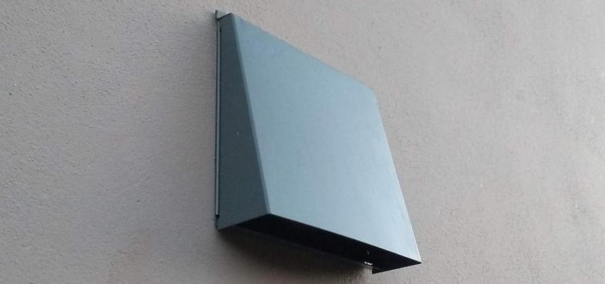 Standard external cover for SEVi 160, made of powder coated stainless steel