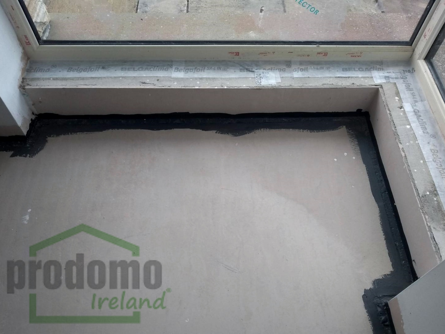 Air Tight Paint to seal upstanding insulation on finished floors