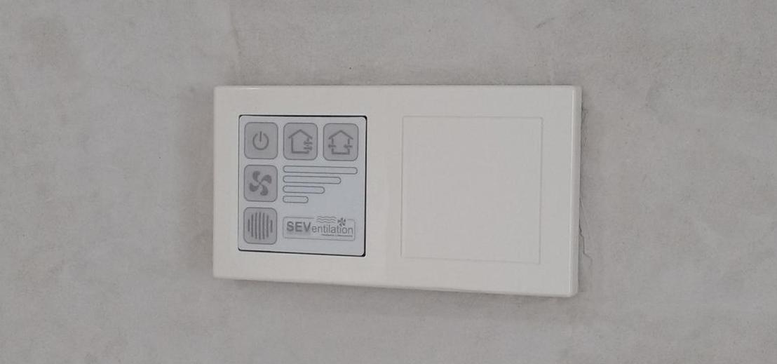 SEC 20BF control unit for up to 6 ductless HRV units