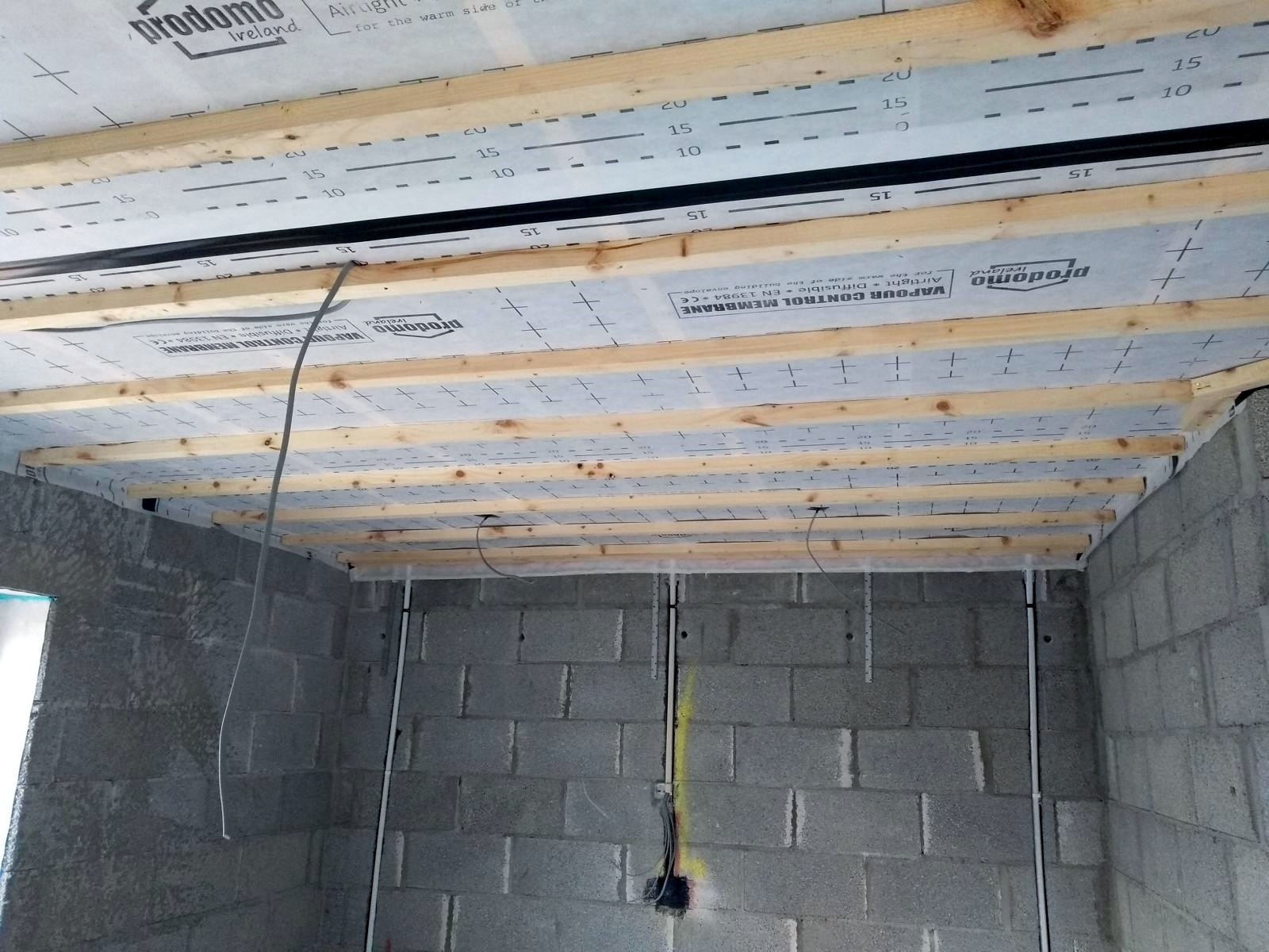prodomo ECO air tightness membrane for counter battened ceilings