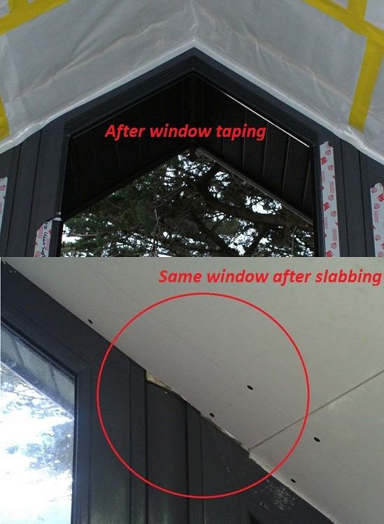 Removing existing airtight tapes partially is not the best idea.