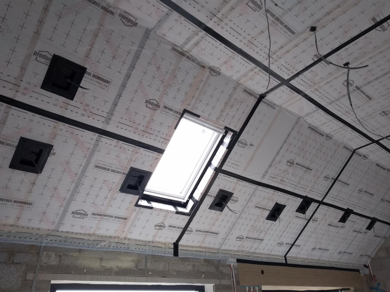 Air Tightness Membrane on a vaulted ceiling