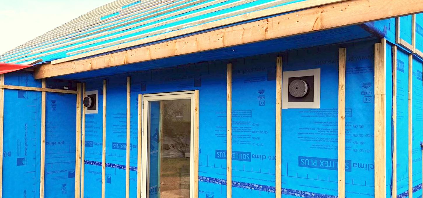 ALD 160 - first fix in a timber frame house