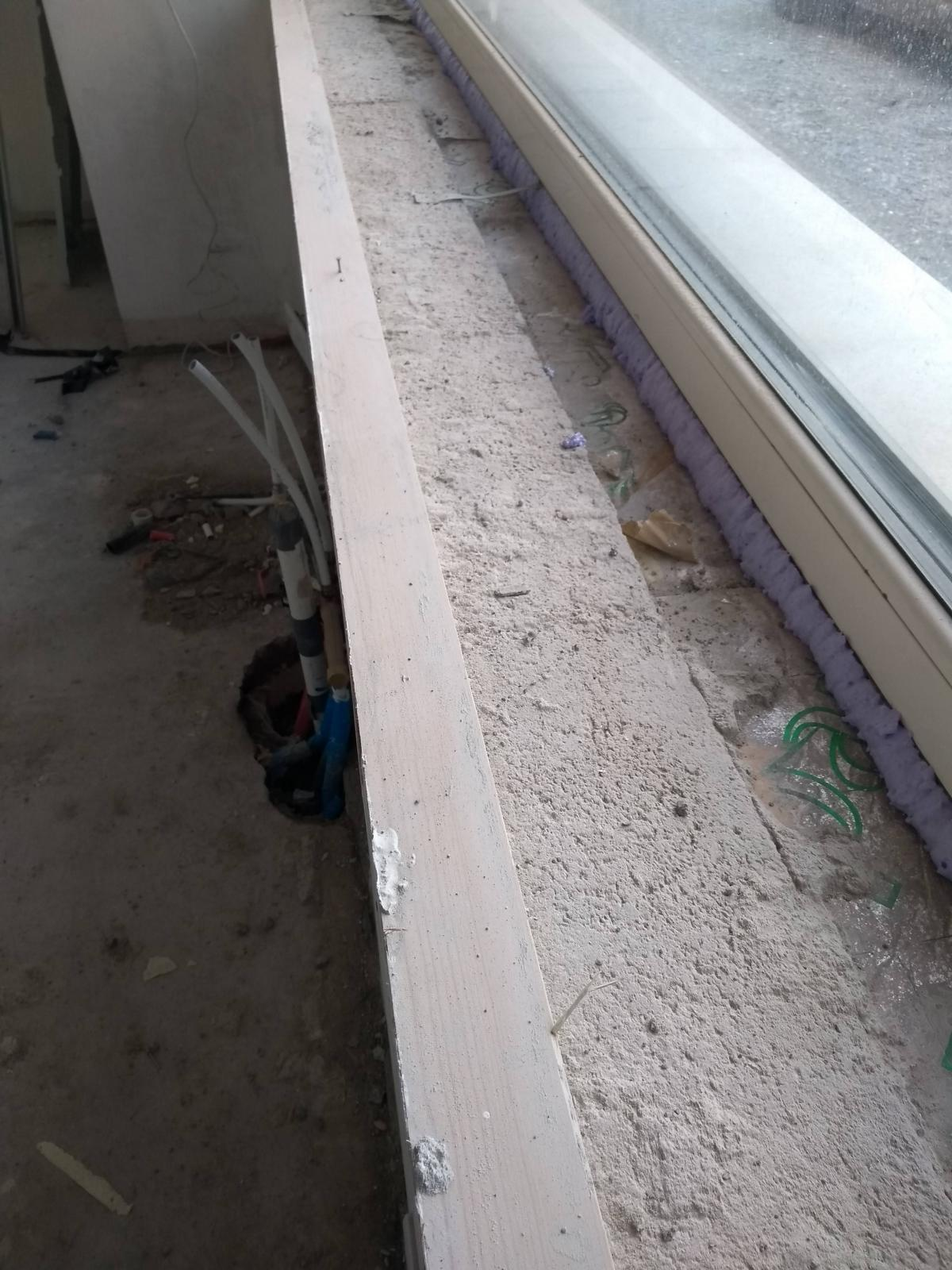 All dirt and mortar was removed to create a smooth surface. The gap between the cavity closer and the window frame has been sealed with PICHLER® air tight foam