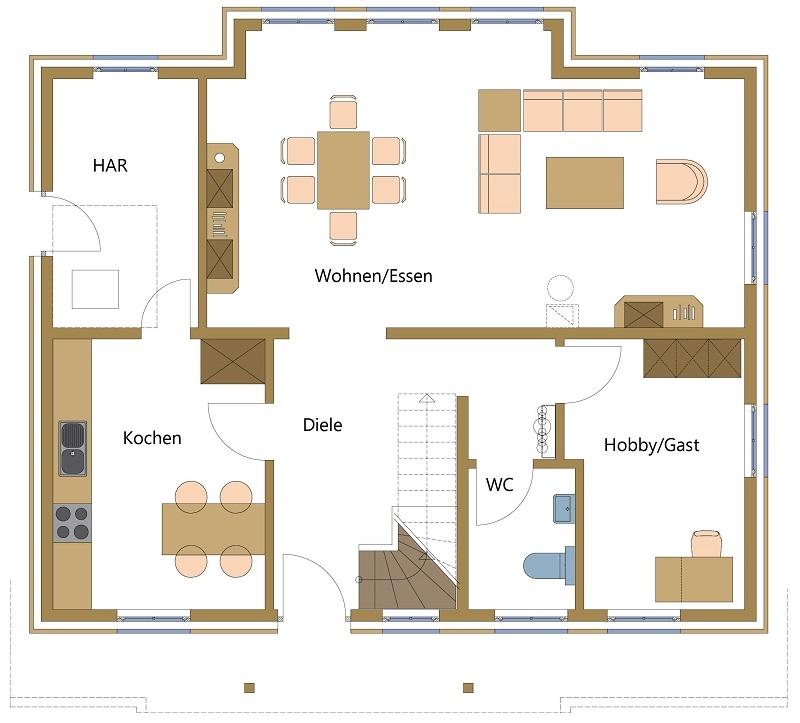 Schwedenhäuser mit variabelen Grundrissen. Holzhäuser mit viel Platz.