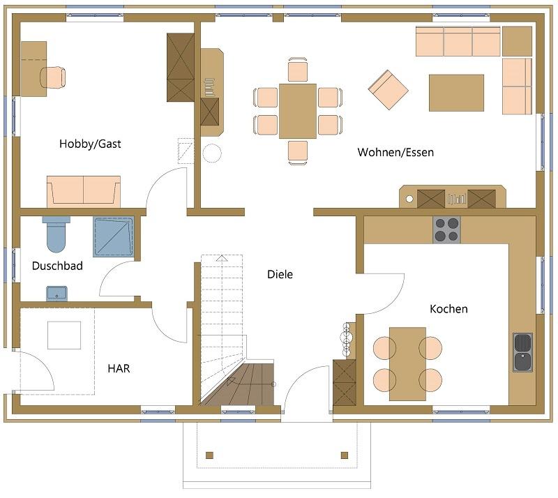 Holzhäuser, Schwedenhäuser im Bungalowstil