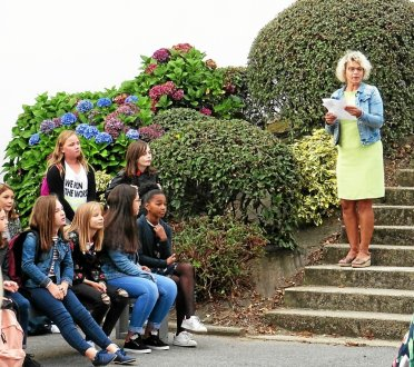 Catherine Croq, directrice du collège Saint-Pierre, a appelé un à un les nouveaux élèves lundi matin.