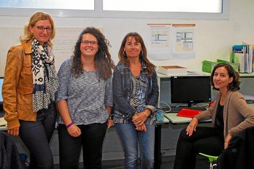 De gauche à droite : Zornitza Parquer, Catherine Kerivel, Christelle Lannuzel et Emilye Vespoert.