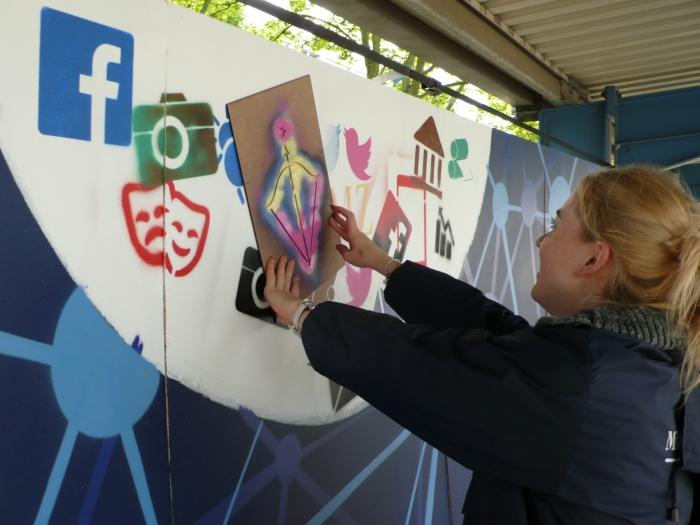 """MZ: Jeder der Lust hat, kann sich bei der """"Stencil Art"""" ausprobieren"""