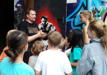 Street Art Event kindergeburtstag feiern teenager geburtstag 3D Druck Erfurt schatzsuche kindergeburtstag Geschenk besonderer Anlass