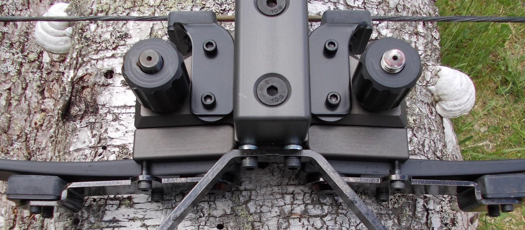 Wurfarmdämpfer - Ausbau der Gummipölster vor Einklappen des Bogens nicht mehr nötig...