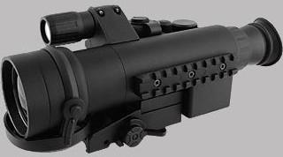 SENTINEL-Nachtzielfernrohr - 2,5x50 mit Gen.1+ Restlichtverstärker und zuschaltbarem IR-Strahler (bis ca. 70 m), Optik von 2 bis 200 m fokussierbar