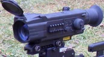 DIGISIGHT-Tag&Nacht-Zieloptik - 4,5x50 mit Digital-Restlichtverstärker (schärfer und kontrastreicher als Gen.1+) und zuschaltbarem IR-Strahler (reicht ca. 100 m weit), Optik von 5 bis 500 m fokussierbar