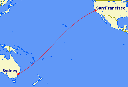 San Francisco to Sydney