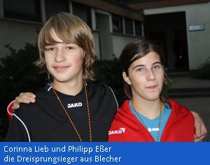 Kreismeister im Dreisprung, Corinna Lieb und Philipp Eßer
