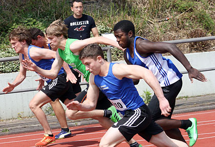 Startphase 100m Sprint , Mitte Philipp Eßer