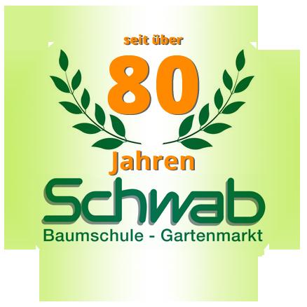 über 75 Jahre Baumschule Schwab Logo -  Ihre kompetente Gärtnerei