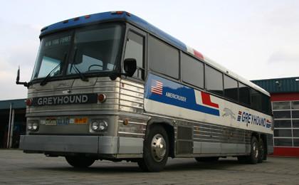 Amerikaanse Greyhound bus, de Vervoering bemiddelt in de verhuur