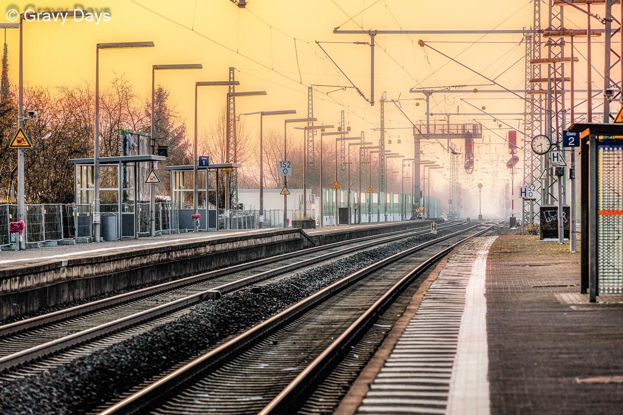 Gleis 2, Bahnhof Butzbach, 2017