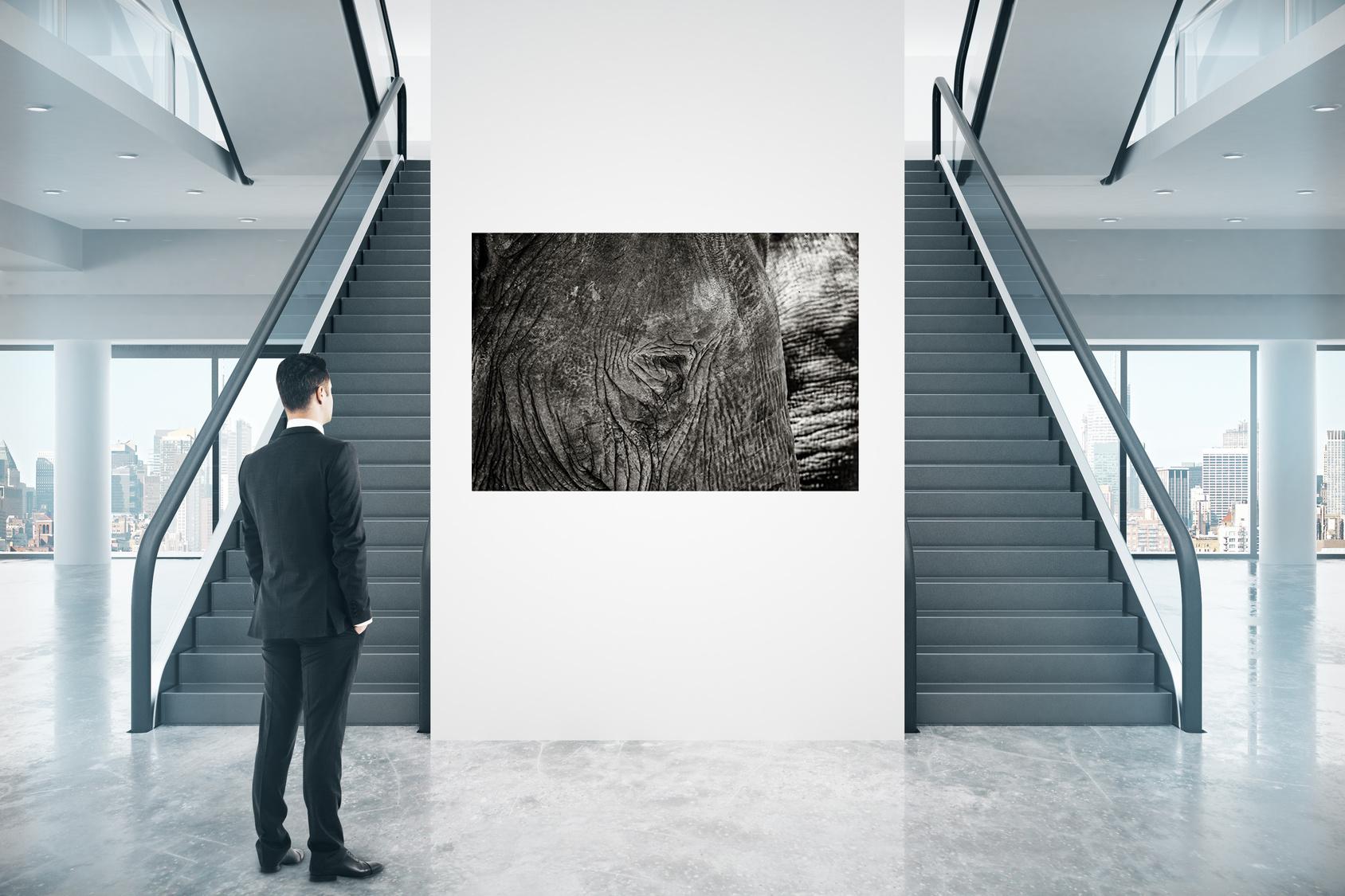 Aufhängebeispiel ohne Rahmen / Hanging example frameless