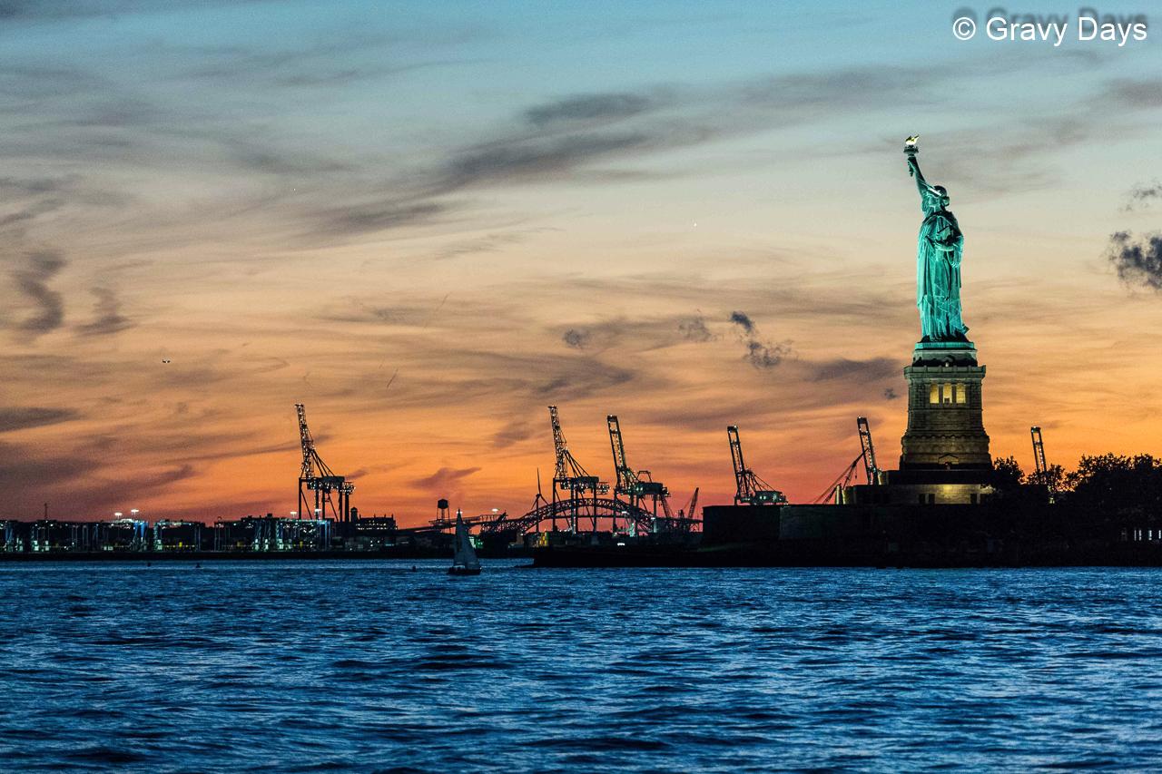 Arrival, Statute of Liberty, New York September 2018