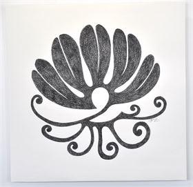 """Symbolbild """"Natürliche Schönheit"""" ca. 70x70 cm, Fettkreide auf Papier"""