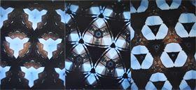 "Kaleidoskop-Fotografie (analog) auf Holz ""Metamorphose"" ca. 18x39 cm"