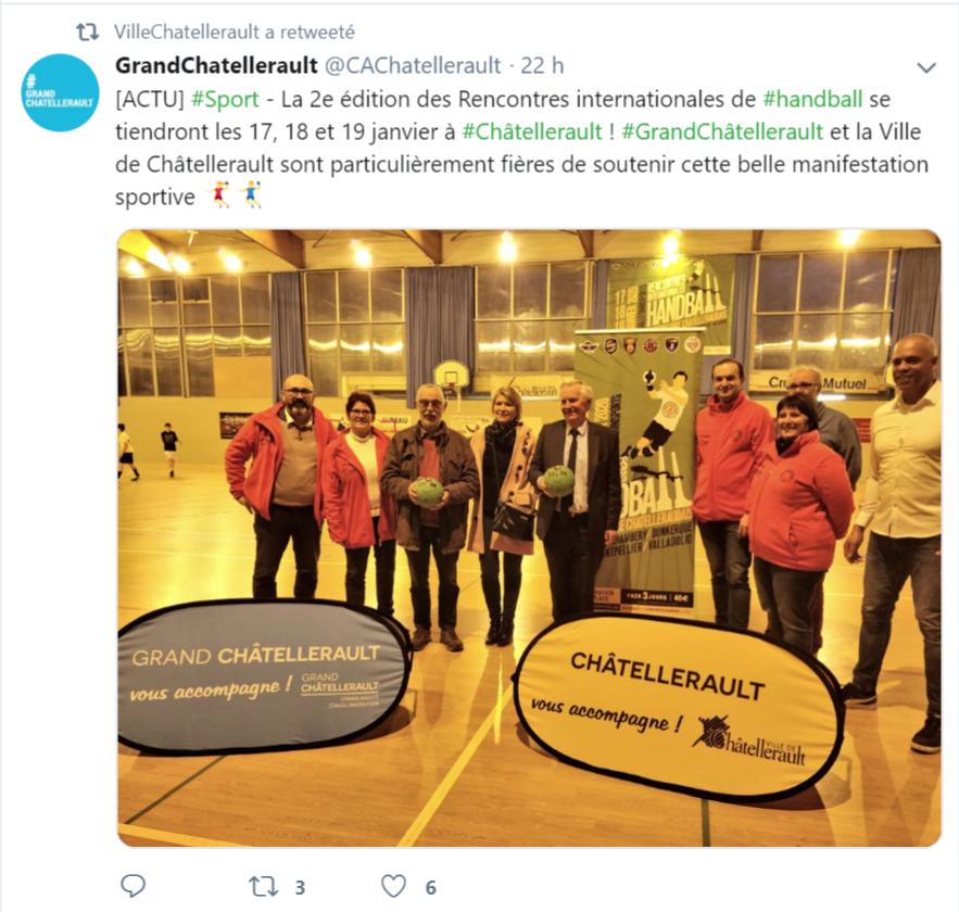 Twitter, Twitt du Grand Châtellerault @CAChatellerault, le 09 janvier 2019