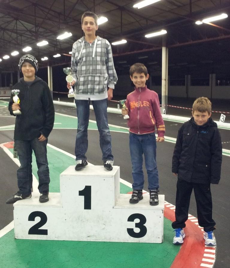 Le podium des jeunes au Mini Trophée des Savoies Rumilly 2012