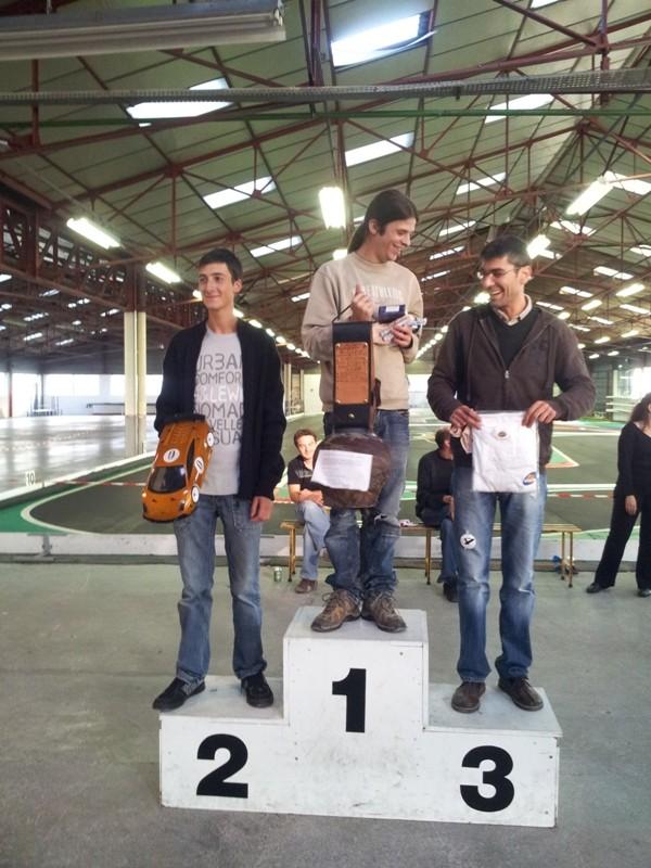 Le vainqueur du trophée des Savoie DTM 2012 avec sa cloche
