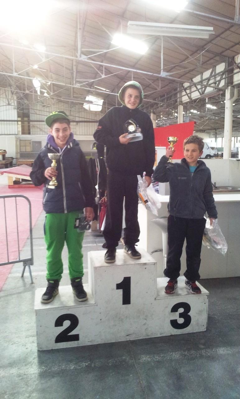 Le podium des jeunes Trophée des Savoies TT Rumilly 2012