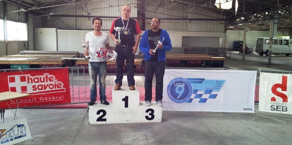 CF rumilly 2012, le podium des experts, avec la première victoire de Walter (AMCR) à RUMILLY
